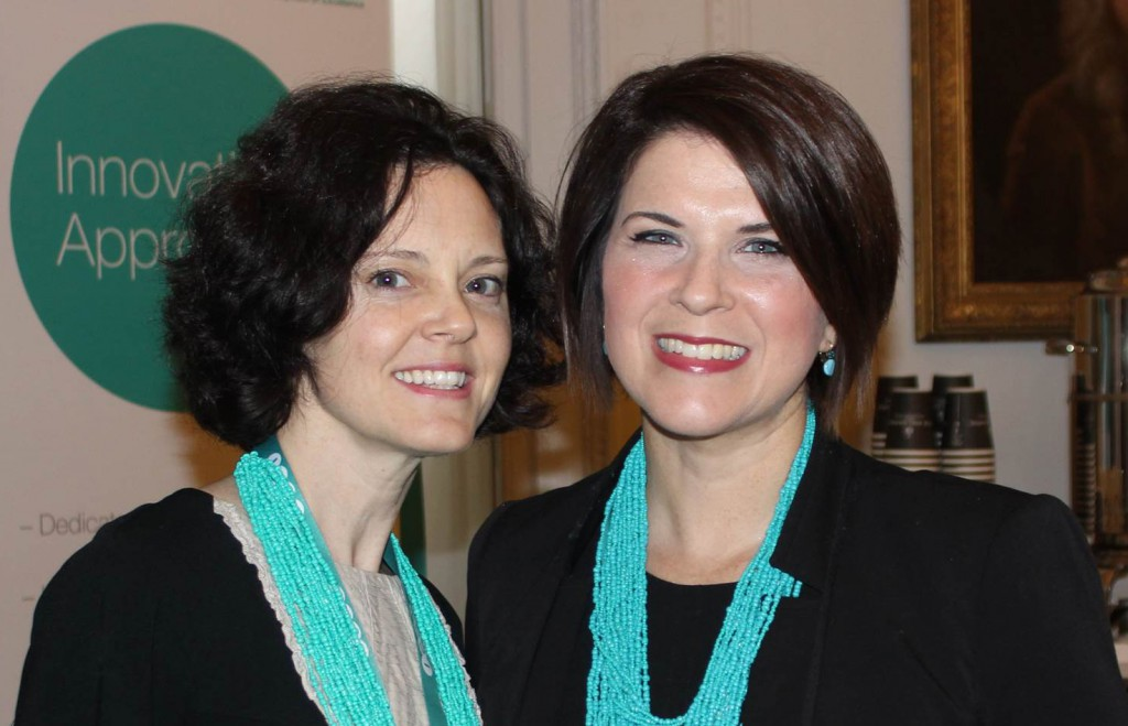 Our Team wore in green necklaces for easy ID