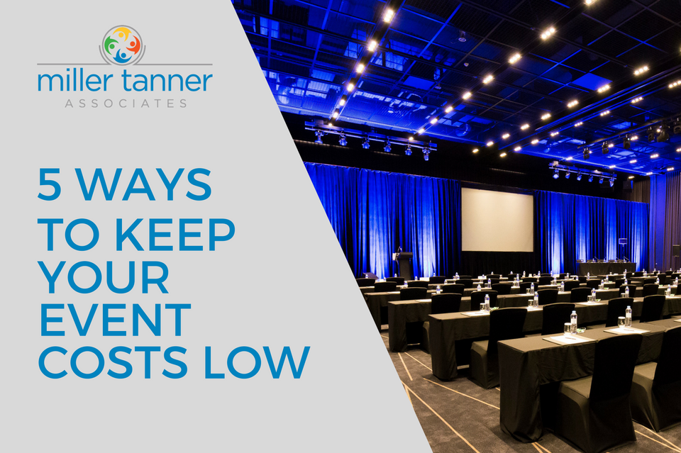 5 ways to keep event costs low