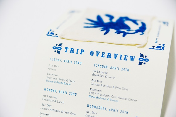 Incentive Trip Itinerary Example