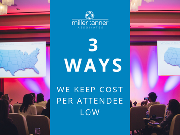 3 ways we keep cost per attendee low