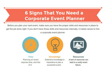 6 signs that you need a corporate event planner