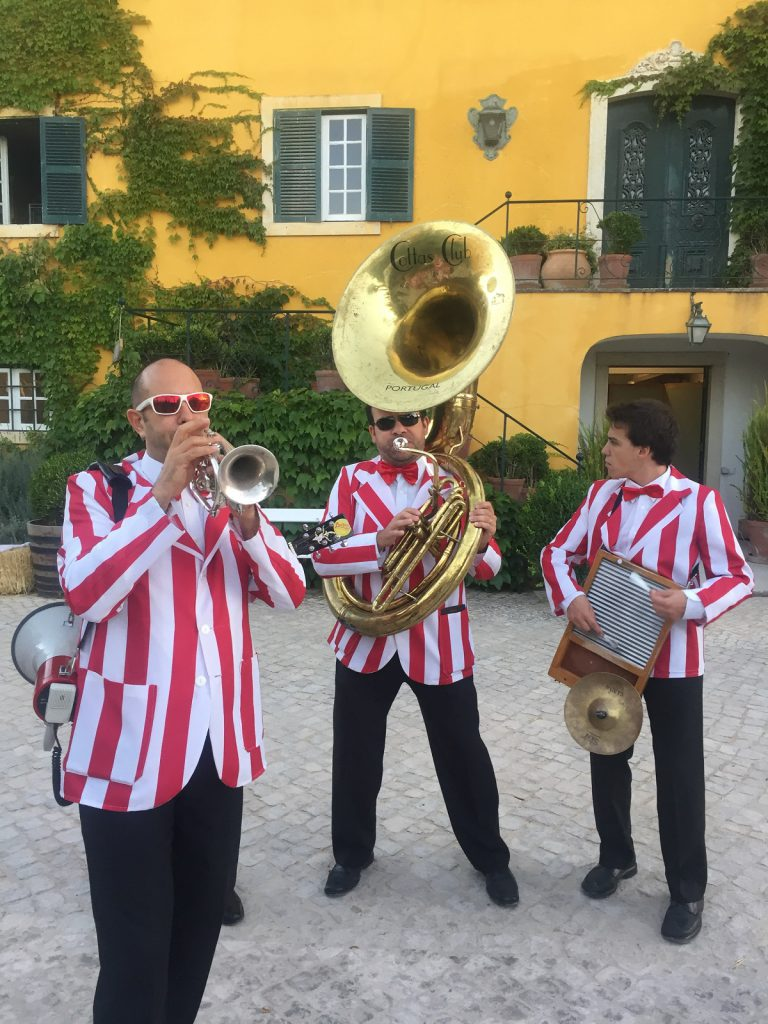 Dixieland music band played