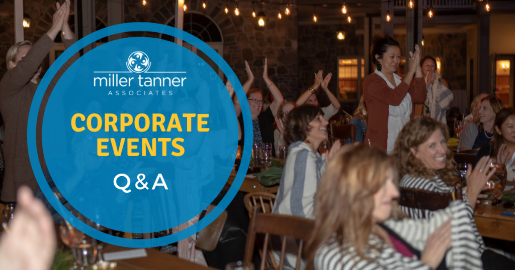 Corporate events questions and answers