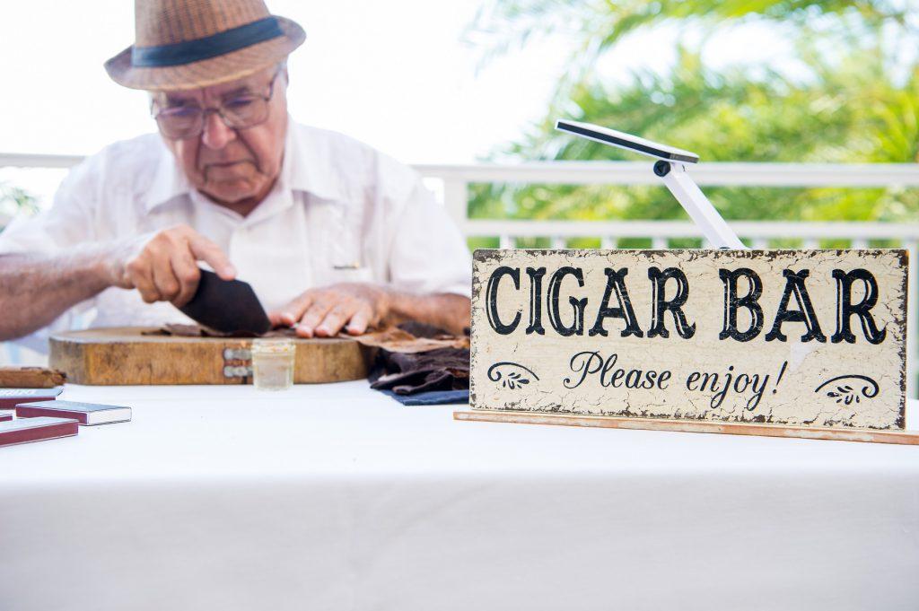 Cigar Bar at Havana Nights event