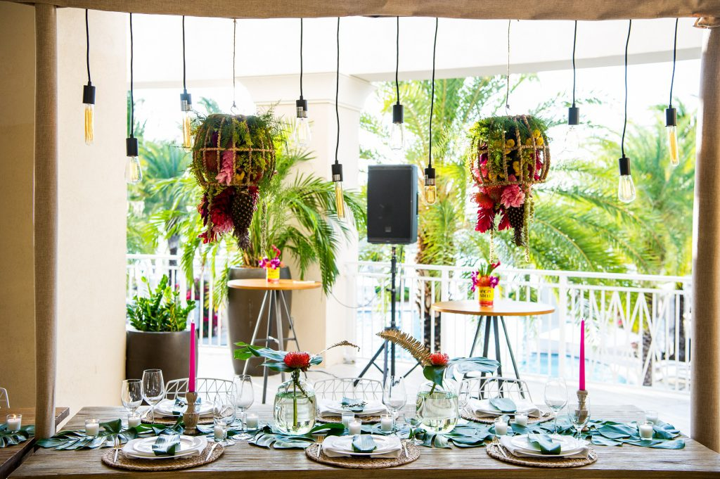 A beautiful event-themed dining experience