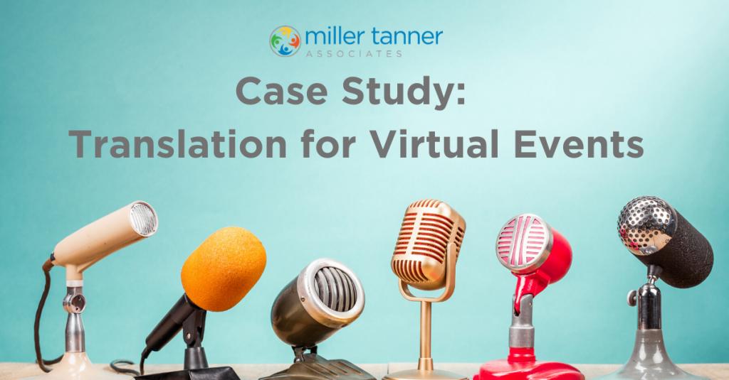 Case study on MTA virtual event translation