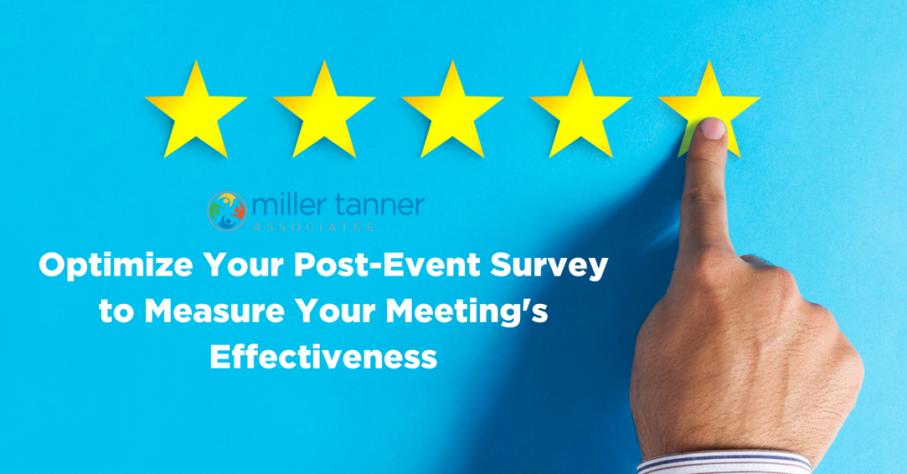 Post event survey measures meeting effectiveness