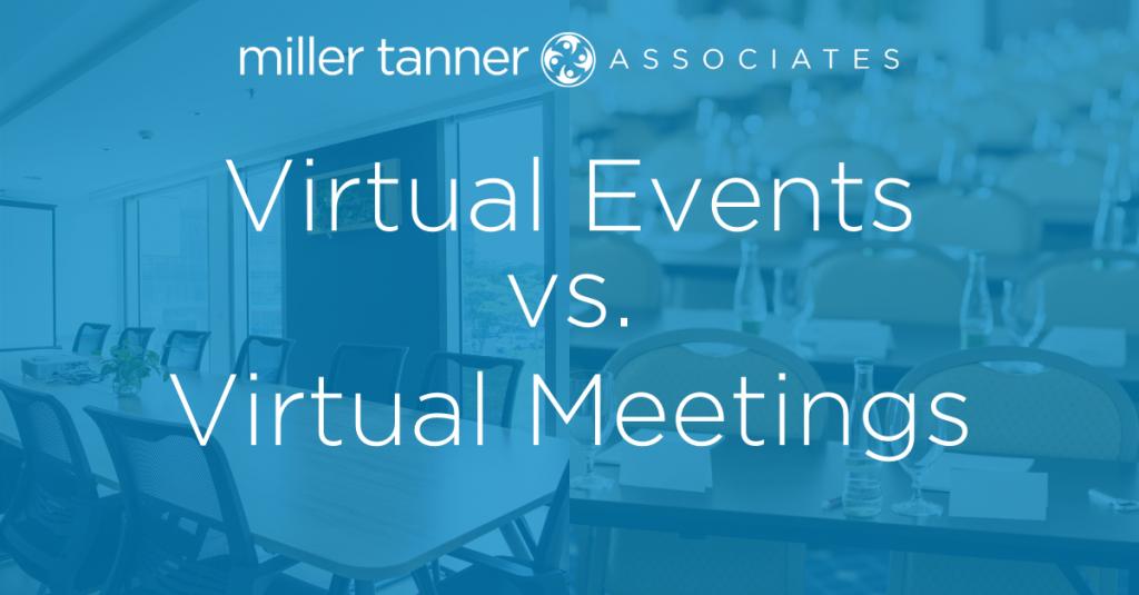 Virtual meeting vs event